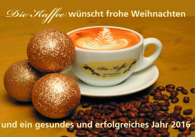 Die Kaffee wünscht frohe Weihnachten 2015